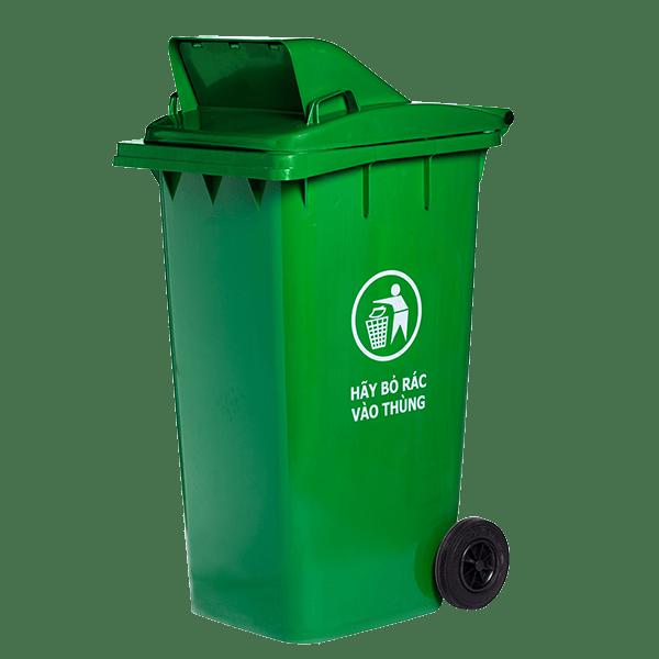 thu gom rác thải nhựa bỏ vào thùng