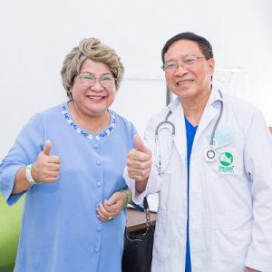 Diễn viên Minh Vượng khám tầm soát ung thư tại Bệnh viện ĐKQT Thu Cúc