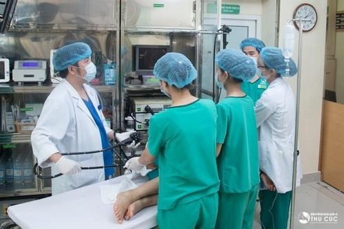 nội soi NBI 5P tại Thu Cúc giúp phát hiện sớm khối u trong đại tràng