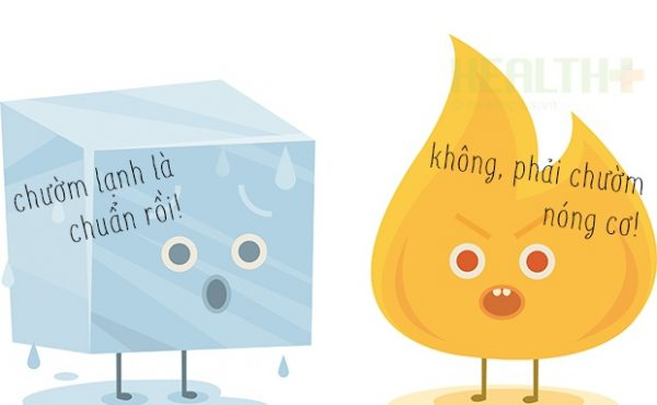 Nhiều bậc phụ huynh vẫn còn băn khoăn không biết khi trẻ bị sốt thì nên chườm ấm hay chườm lạnh? (ảnh minh họa)
