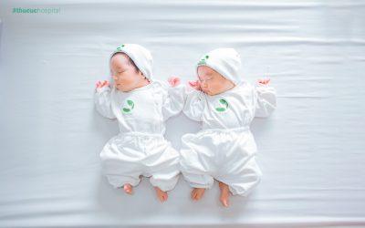 """""""Tan chảy"""" trước bộ ảnh sinh đôi tại Bệnh viện ĐKQT Thu Cúc"""