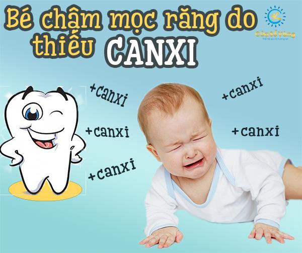 thiếu canxi khiến trẻ chậm mọc răng