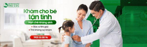 khám và điều trị cúm cho trẻ tại Thu Cúc
