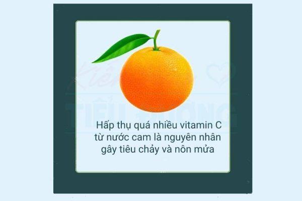 uống nước cam nhiều không tốt cho cơ thể