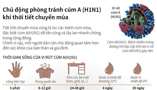 Bệnh cúm A/H1N1 vào mùa