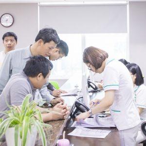 Khám sức khỏe định kỳ công ty Vinata tại Bệnh viện Thu Cúc