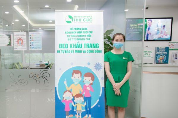 Bệnh viện Thu Cúc đã thực hiện rất nghiêm ngặt việc phòng chống dịch tại môi trường bệnh viện theo khuyến cáo của Bộ Y Tế