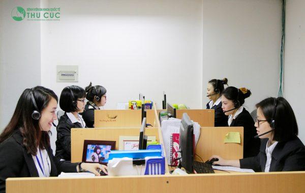 Bệnh viện Thu Cúc có hệ thống tổng đài chuyên nghiệp bậc nhất Thủ đô, với 100% chuyên viên tổng đài được đào tạo y khoa bài bản