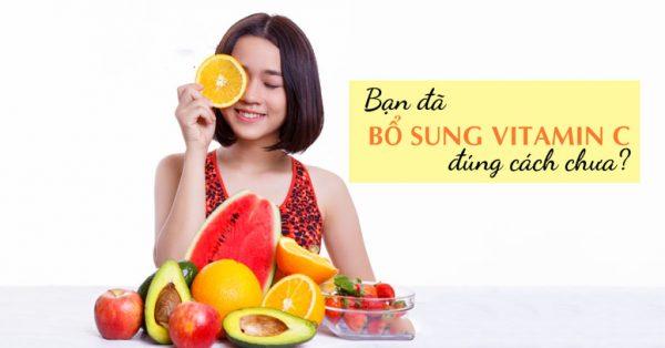 bổ sung vitamin đúng cách là như thế nào