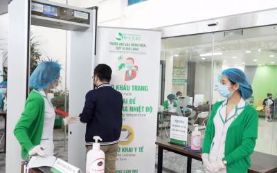 Bệnh viện Thu Cúc tổ chức phân luồng người bệnh đến khám theo Quy định của Bộ Y Tế trong mùa dịch Covid-19