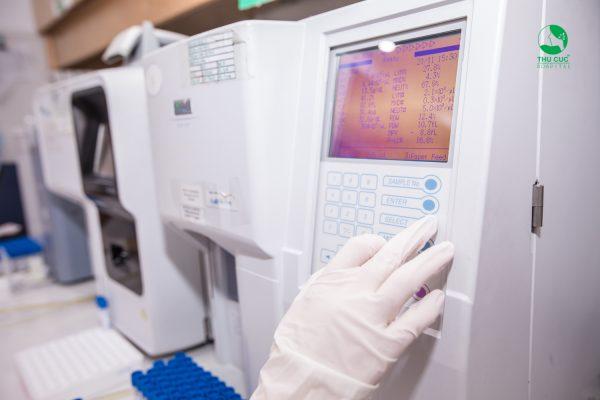 xét nghiệm máu cho trẻ tại Thu Cúc