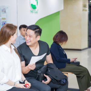 Diễn viên Minh Tiệp tham gia khám sức khỏe tại Bệnh Viện ĐKQT Thu Cúc