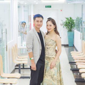 Diễn viên Lan Phương tham gia Ngày hội sức khỏe gia đình tại Bệnh viện ĐKQT Thu Cúc