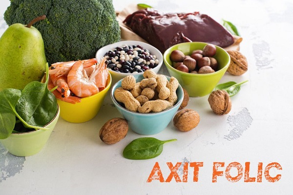 Acid folic có nhiều trong các trái cây, rau xanh, trứng