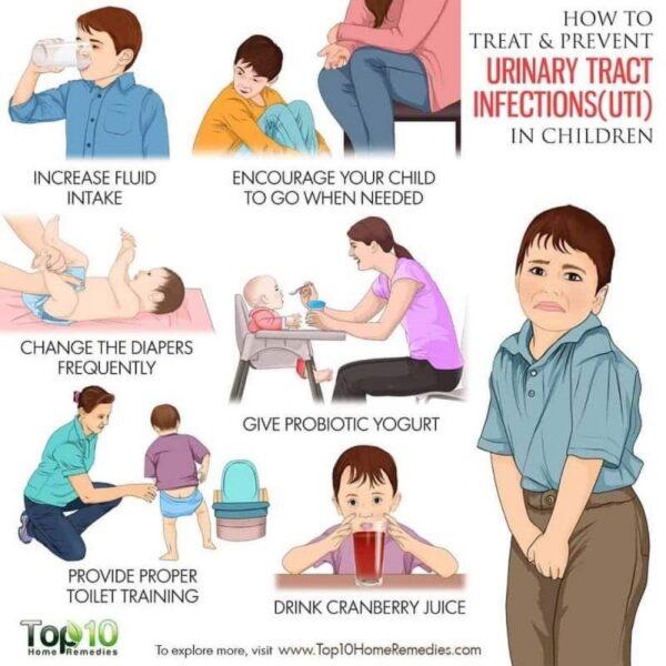 Các biện pháp phòng ngừa nhiễm trùng đường tiểu ở trẻ em