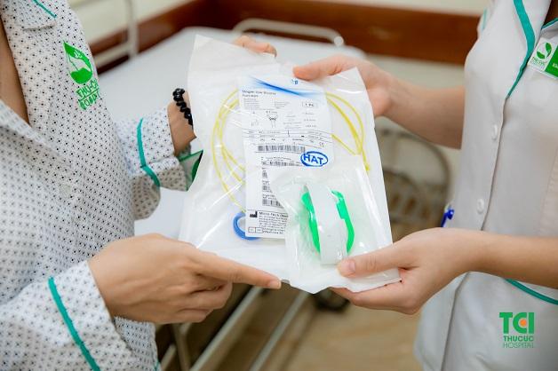 Kìm sinh thiết, canuyn, kính oxy được sử dụng 1 lần duy nhất cho mỗi ca nội soi tại Thu Cúc