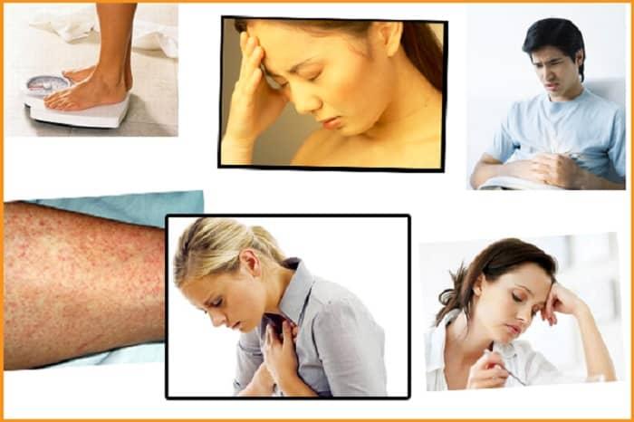 Một số triệu chứng điển hình có thể bắt gặp ở bệnh nhân rối loạn chức năng gan