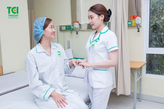Dịch vụ chăm sóc người bệnh tận tâm là thế mạnh của TCI